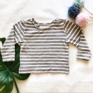 Everlane Grey And White Girls Sweatshirt Size 3T